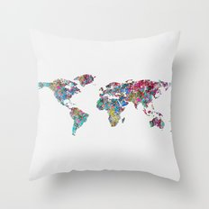 World of Leaves Throw Pillow