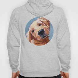 Golden Retriever Puppy Original Oil Painting Hoody