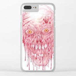 Flesh Eating Zombie Artwork Clear iPhone Case