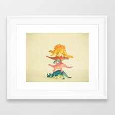 Dinosaur Antics Framed Art Print