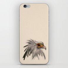 Secretary bird head iPhone & iPod Skin