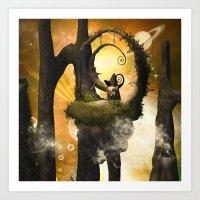 wonderland Art Prints featuring Wonderland  by nicky2342