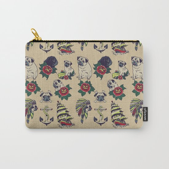 Pugs and the sea Carry-All Pouch