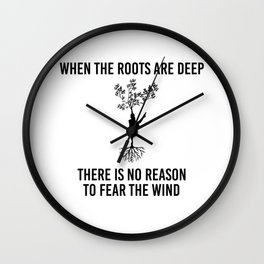 Family Roots Connection Dynasty Ancestry Yoga Gift Wall Clock