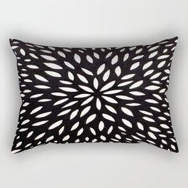 White Floret Rectangular Pillow