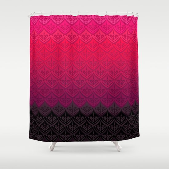 ELENA PATTERN - FLAMENCO VERSION Shower Curtain