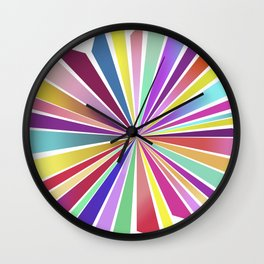 70ies flower No. 2 Wall Clock