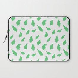 Feather pattern Green Laptop Sleeve