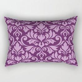 Flourish Damask Big Ptn Pink on Plum Rectangular Pillow
