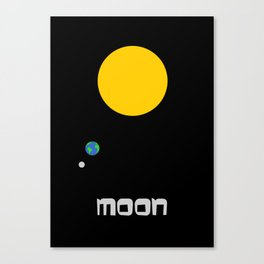 The Moon in Minimal Canvas Print