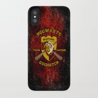 quidditch iPhone & iPod Cases featuring Gryffindor lion quidditch team captain iPhone 4 4s 5 5c, ipod, ipad, pillow case, tshirt and mugs by Three Second