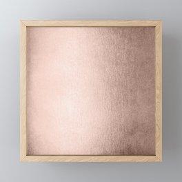 Moon Dust Rose Gold Framed Mini Art Print