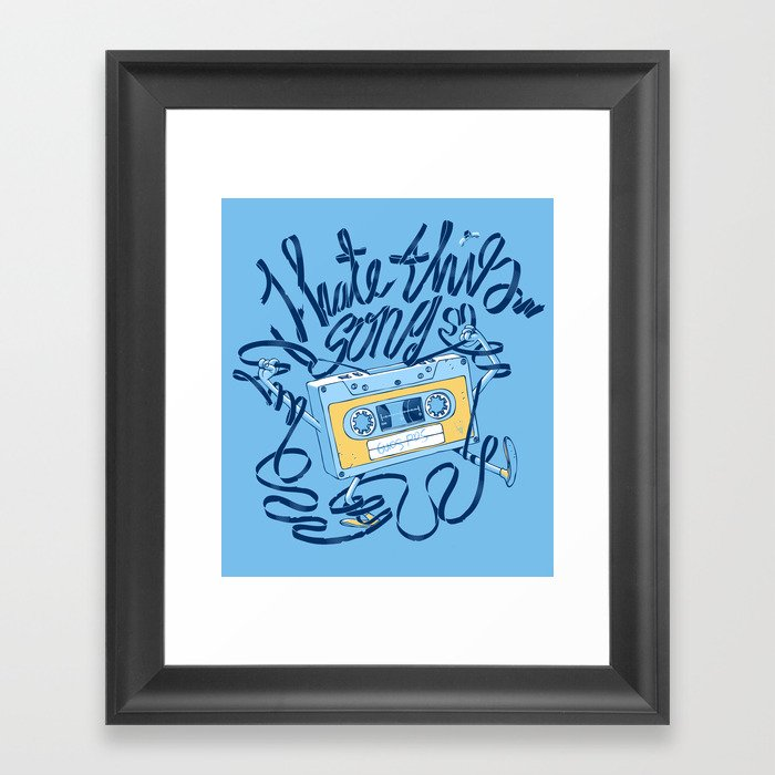 Sad song Framed Art Print