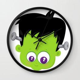 Cute Frankenstein Monster Wall Clock