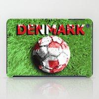 denmark iPad Cases featuring Old football (Denmark) by seb mcnulty