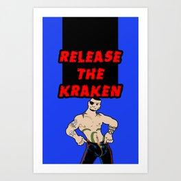 Release The Kraken Art Print