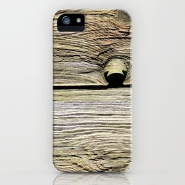 Natural Wood Panels iPhone Case