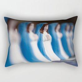 Hand painted figurines Rectangular Pillow