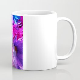 neon purple blue and pink flowers Coffee Mug