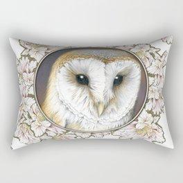 Barn owl small Rectangular Pillow