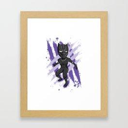 Black Panther (Splatter) Framed Art Print