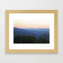 Mountain Blues Framed Art Print