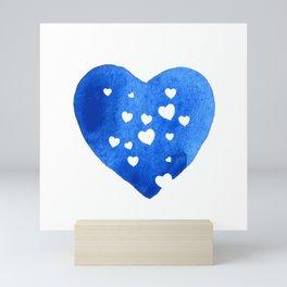 Blue Hearts Mini Art Print