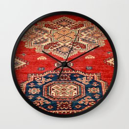 Natural Dyed Handmade Anatolian Carpet Wall Clock