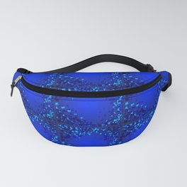 Sea explosive pattern of rhombuses and squares at the depth of the blue ocean. Fanny Pack