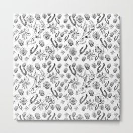 Skulls and Succulents Metal Print