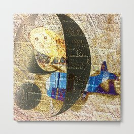 owl and whale Metal Print