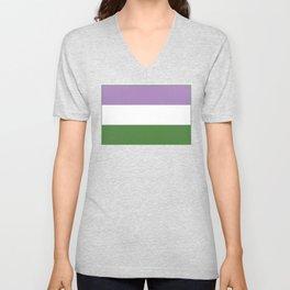 Genderqueer Flag Unisex V-Neck