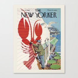 """Cover of """" The new Yorker"""" magazine. Mar. 22 1958. Canvas Print"""