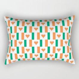 flag of ireland 13 -ireland,eire,airlann,irish,gaelic,eriu,celtic,dublin,belfast,joyce,beckett Rectangular Pillow