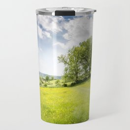 Idyllic Cotswold Summer Landscape Travel Mug