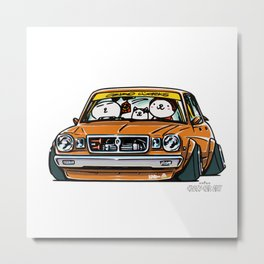Crazy Car Art 0146 Metal Print