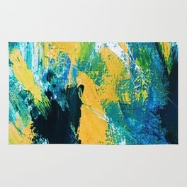 Poppy Abstract Floral Print Rug