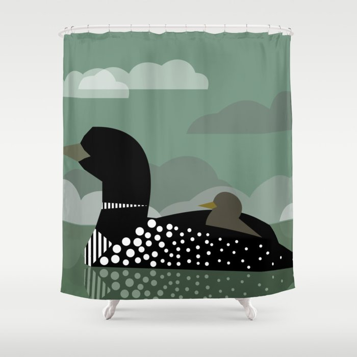 Loon Lake Shower Curtain