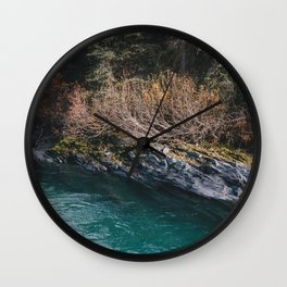 Glacial Stream II Wall Clock