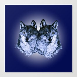 Season of the Wolf - Duet in Sapphire Canvas Print