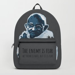 The Enemy is Fear Backpack