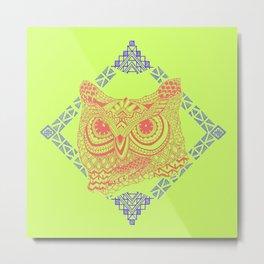 Owl Carnivale Metal Print