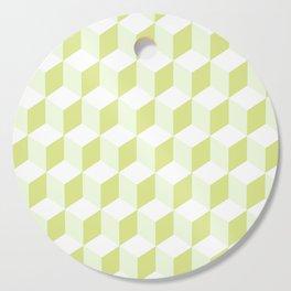 Diamond Repeating Pattern In Almond Buff and Grey Cutting Board