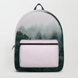 Pink foggy forest Backpack
