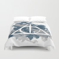 ravenclaw Duvet Covers featuring The Deathly Hallows (Ravenclaw) by FictionTea