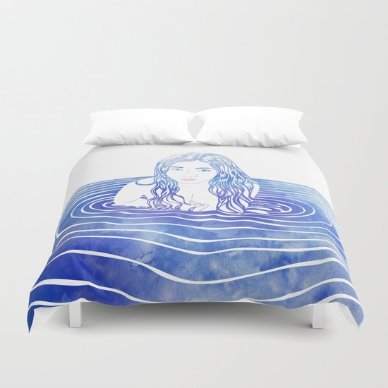 Water Nymph LIII Duvet Cover