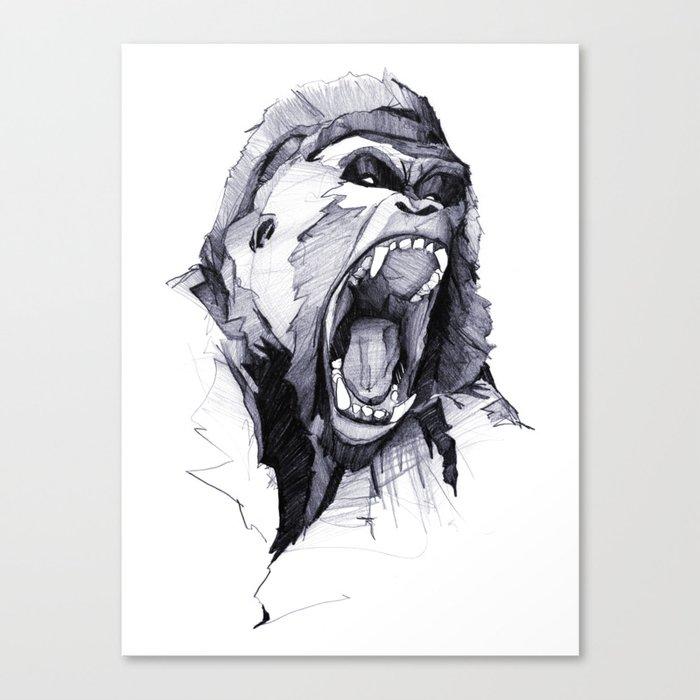Wild Rage Canvas Print