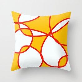 Abstract Summer Sunshine Throw Pillow