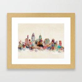 Cincinnati ohio skyline Framed Art Print