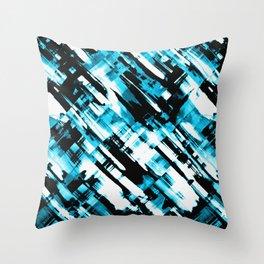 Hot blue and black digital art G253 Throw Pillow